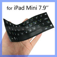 Newest Silicone Typing Keyboard for iPad Mini Stick-on Waterproof Keyboard
