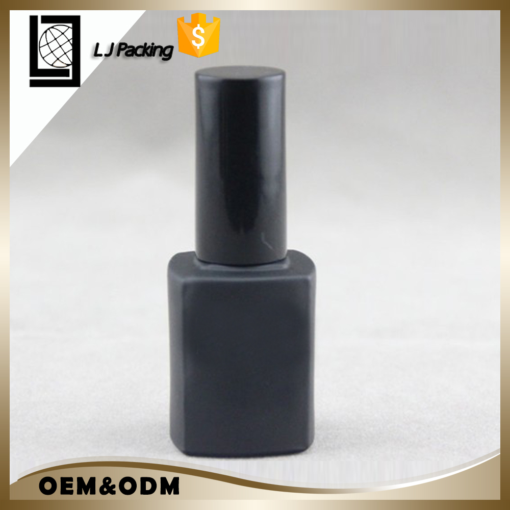 Empty fancy 10ml 15ml custom uv gel square glass nail polish bottle
