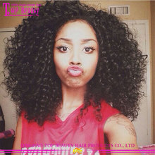 Hot sale 180% density afro kinky curly half wig fashionable afro kinky curly lace front wig