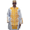 Bazin riche design dresses embroidery men shirt and pants two pieces set bazin African clothing