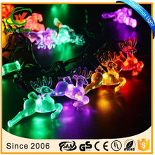 Outdoor decroation 20LED 4.8m small deer solar fairy lights