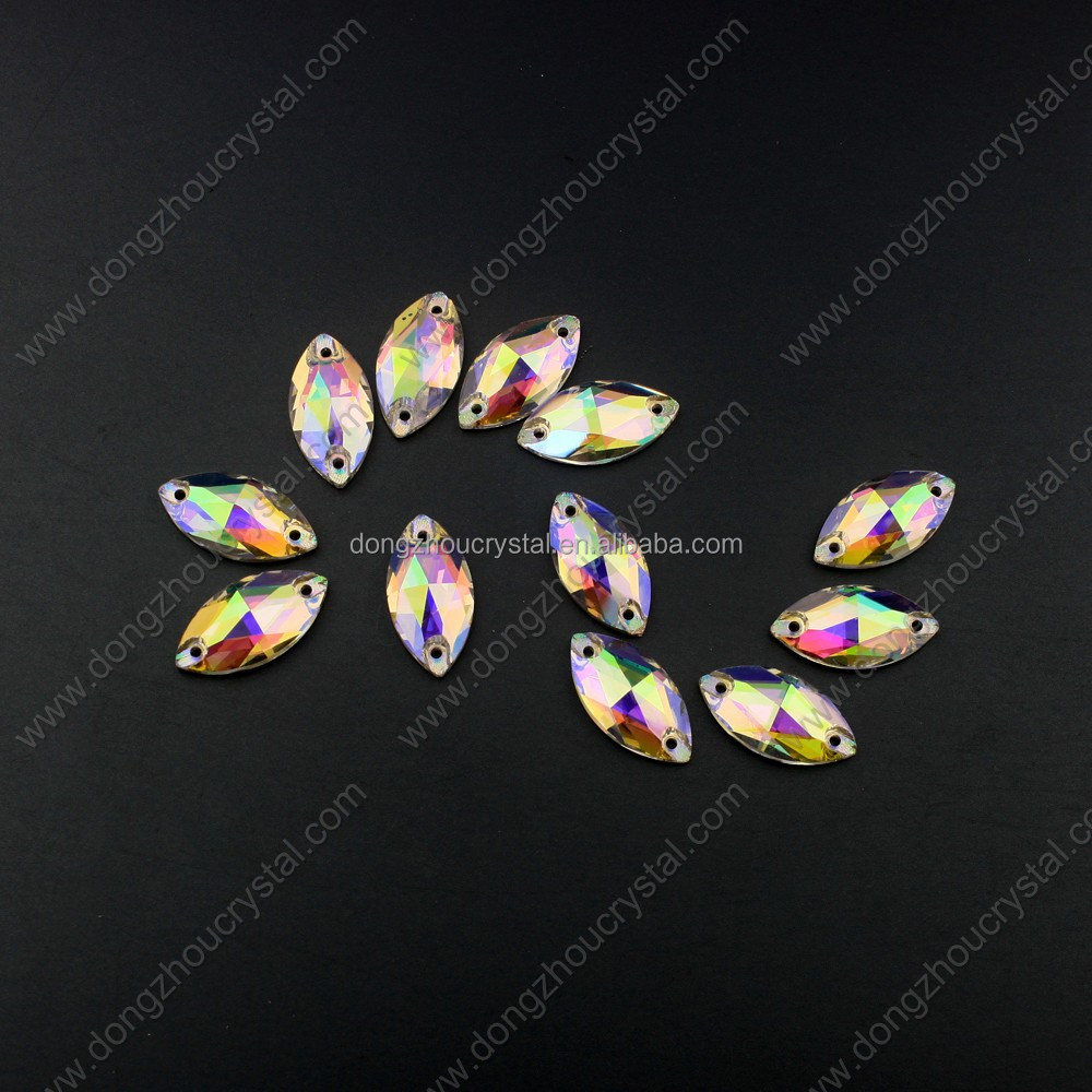 wholesale flat back ab sew on stone for wedding accessories