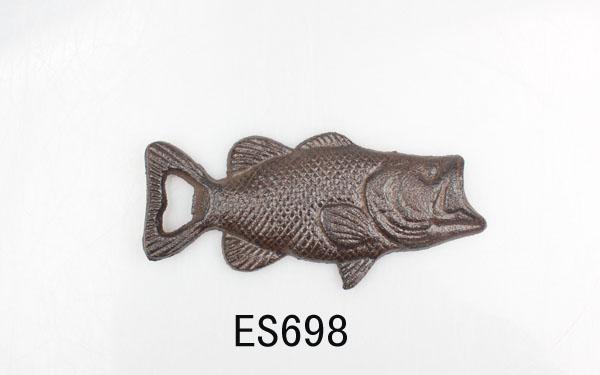 cast iron decoration trout bottle opener