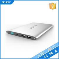 flashlight dual usb 20000mah ultra thin aluminum power bank