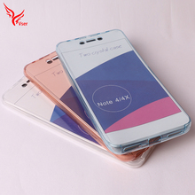 For xiaomi 2 in 1 Hybrid combo soft slim 360 full cover tpu transparent case cover for redmi note 3 4