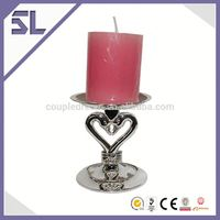 Customized Elegant with Crystal Decoration High Grade Candelabra Wedding Table Candle sticks Zinc Alloy Candlesticks