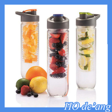 HOGIFT eco friendly 25oz tritan detox water bottle infuser 2016 new fruit infuser water bottle 800ml plastic raw material
