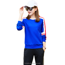 Wholesale sportswear manufacturers in indonesia Spring Item Women Casual Tracksuit For <strong>Sports</strong> Long Sleeve Round neck