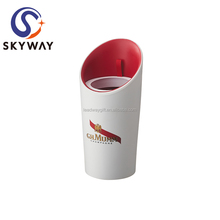 Custom Logo Double Wall Double oblique mouth Plastic ice Wine Cooler Bucket