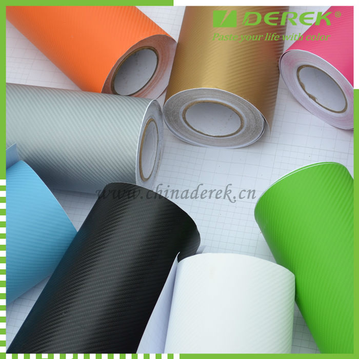 Hot selling 3D Carbon Fibre Vinyl, Air Free Bubbles 3D Carbon Fiber Film