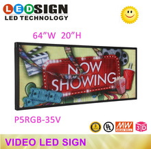 "P5 FULL COLOR WIFI PROGRAMABLE 78""X22"" LED SIGN INDOOR IMAGE VIDEO ANIMATION BAR"