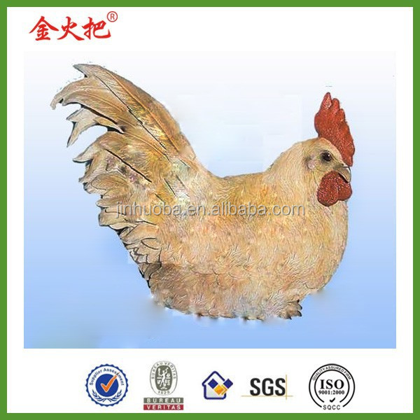 New Products Lifelike Resin Outdoor Chicken garden decor for sale