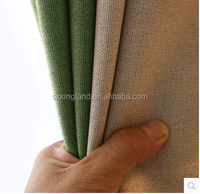 wholesaler Chemical linen like blackout curtain fabric