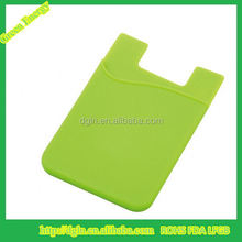 Hot selling pocket business card holder,silicone smart phone pocket,3M adhesive stickers silicone phone card holder