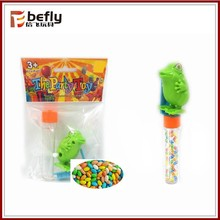 Wind up frog candy low cost toys china with plastic tube