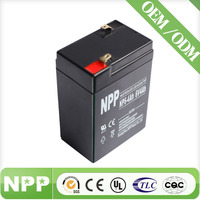 6V4Ah battery for emergency light systems rechargeable 4 volt battery