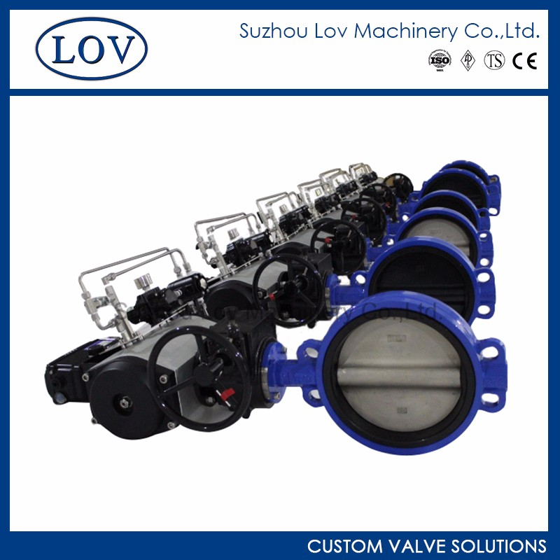 OEM High Performance Pneumatic Wafer Control Butterfly Valve