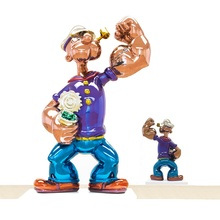 Famous art decoration cartoon stainless steel Popeye statue for sale