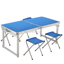 Hot lightweight portable aluminum folding picnic table with umbrella DF-19-3