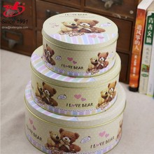 Novelty High-end metal tin box for Biscuit cookies