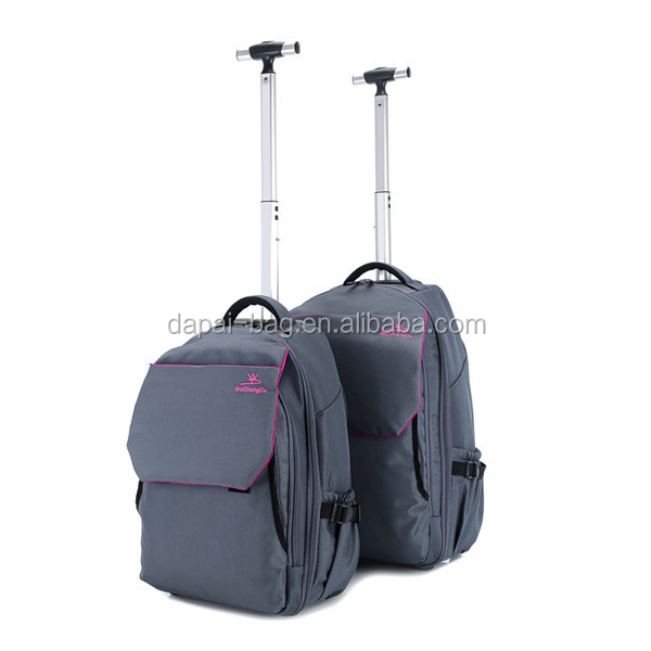 Cheap Custom Girls' High Quality Trolley Backpack With Wheels