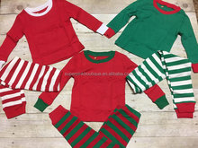 Bulk wholesale christmas striped kids pajamas