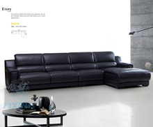 2Y517 Modern Design sectional genuine leather sofa living room