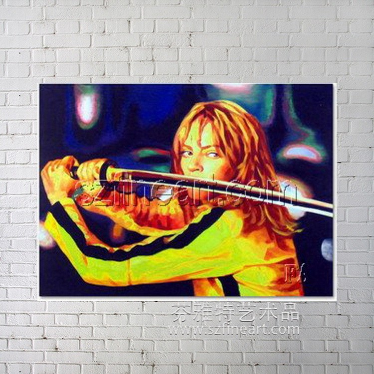 Kill Bill movie poster POP oil paintings art on canvas