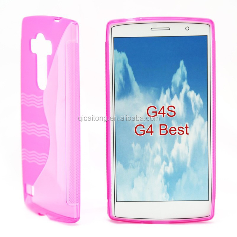 mobilephone S line tpu gel case with wave for LG G4 Beat G4S G4MINI H735