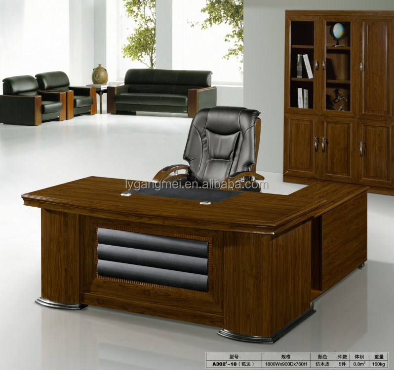 Modern office equipment MDF wooden top executive desk for sale