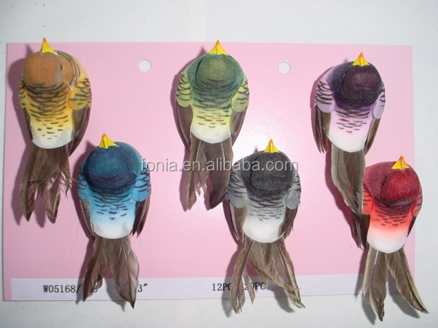 Flying artificial feather bird crafts for party festival garden decoration
