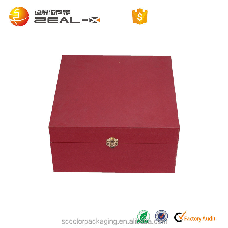 Luxury Paper board Rigid Packaging Box With Lock
