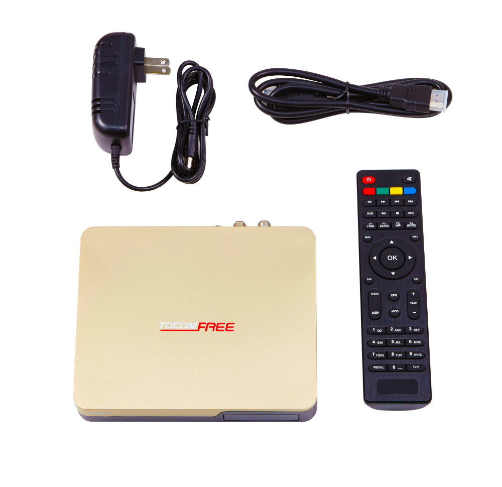 2017 full hd satellite receiver strong decoder Tocomfree S989 with IKS SKS free for south america