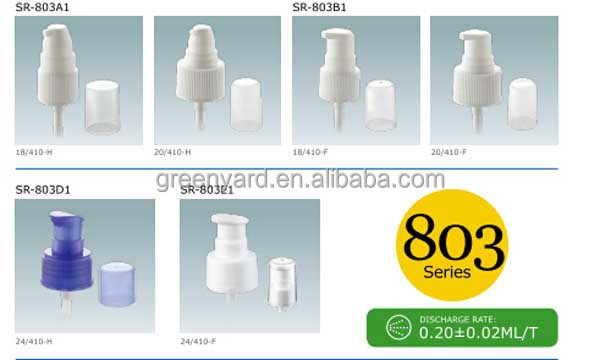 Make Up Treatment Sprayer Pump Dispenser Pump Plastic Cream Pump