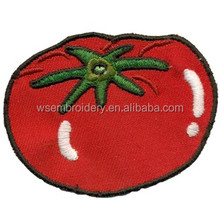 Custom design tomato embroidery patch for kids