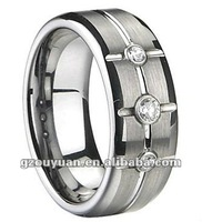 NEW ARRIVAL!!! fashion design high polishing zircon inlay ring, promotional gift