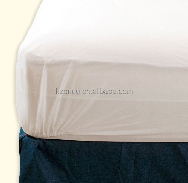 Fitted mattress cover vinyl waterproof bedbug allergy protector