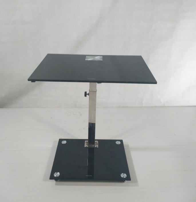 Hotel Cafe Furniture Glass Restaurant Table With Metal table Legs