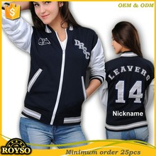 Custom Made Women Cheap Plain Coaches Bomber Varsity Jacket Leather Sleeves Woman Girls Jacket