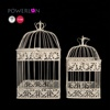 Cheap decorative vintage home and garden iron flower and bird cage 2pcs/set