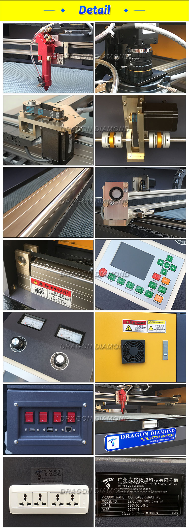 6090 Auto Position Cnc Co2 Laser Cutting Machine With Ccd Camera For Fabric Cloth Label Cutting
