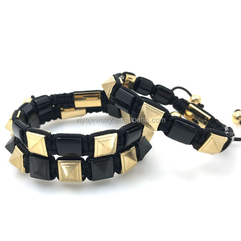 yellow python leather nail bracelet best jewelry for night club