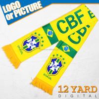 fans warmly winter man brazil world cup logo printed knit sport scarf