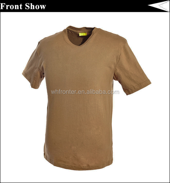 Cheap wholesale cotton brown military t shirts buy brown for Cheapest bulk t shirts