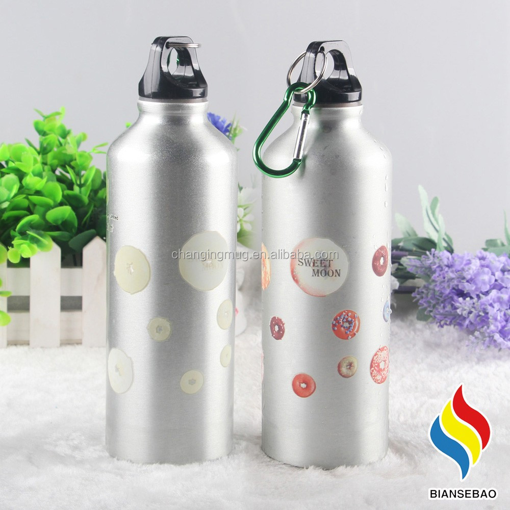 Custom Logo Travelling Color Changing Alumium Sports Drink Shakers Water Bottle
