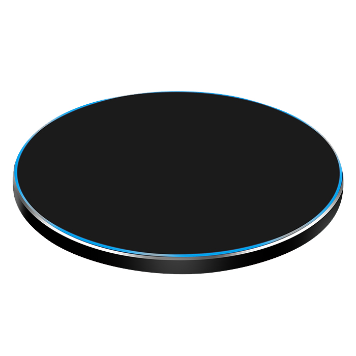 New Model Fast charge wireless charger,9V 1.67A metal QI wireless charger, phone charger for S6 phone 8 phone X