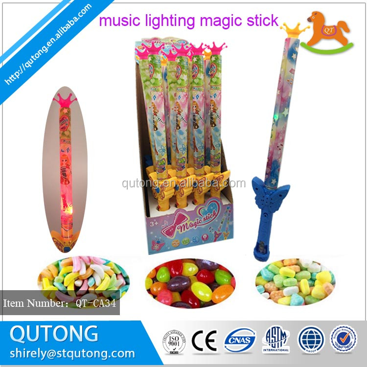 Best selling products magic musical lighting stick lucky candy toy goods from china