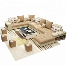 B107 <strong>Modern</strong> Style Design Fabric Sofa Set 7 Seater