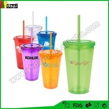 16oz high quanlity Assorted Colors plastic cup tube cup japan