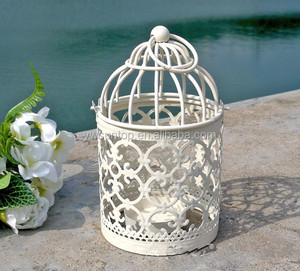 Newest Scrollwork Mini metal Lantern wedding garden decoration favors